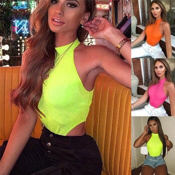 Women Bodycon Slim Fitness Workout Sleeveless Clubwear Rompers Jumpsuits Off Shoulder Halter Solid Summer Bodysuit Outwear Tops 4
