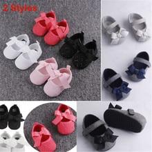 PUDCOCO Горячая Малыш девочка детская обувь, новорожденные ребенок мягкая подошва, с бантом Prewalker кроссовки