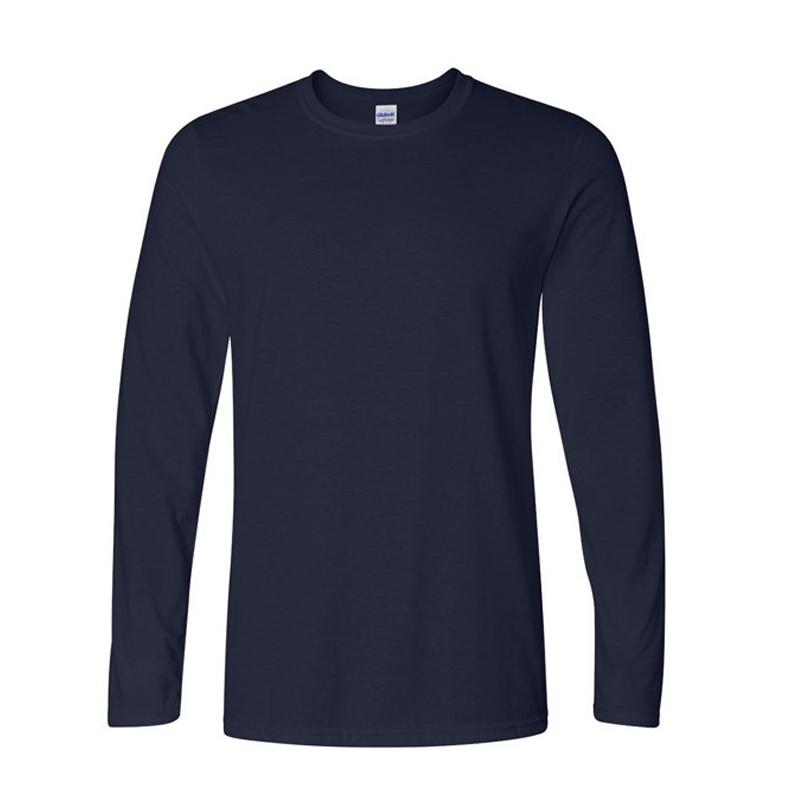 Classic men's cotton long sleeve O-Neck T-Shirt