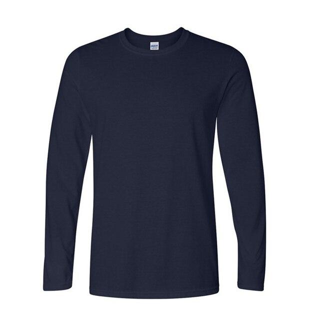 Hot Sale Classic Men T shirt Long Sleeve O neck Mens T-shirt Cotton Tees  Tops Mens Brand tshirt Plus size XS- XXL Sweatshirts 4045e2895f8