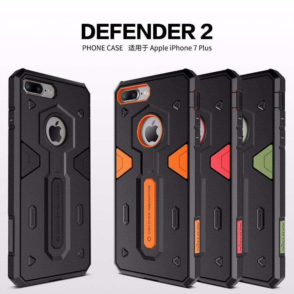 Capa para iphone 6 s 7/plus nillkin defender capa dura traseira caso mais forte à prova de choque + tpu combinado