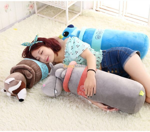 Fancytrader 1 pc 30\'\' 75cm Giant Plush Stuffed Raccoon Penguin Hippo Elephant Stitch Pillow, 5 Models, FT50800 (4)