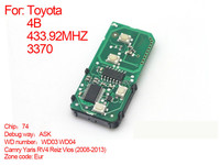 For Toyota smart card board 4 buttons 433.92MHZ number:WD03 WD04 271451 3370 Eur ES025