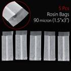 KiWARM 5 Pcs 90m Micron 1.5x3 Nylon Mesh Rosin Oil Press Filter Bags Nylon White Screen with Flap