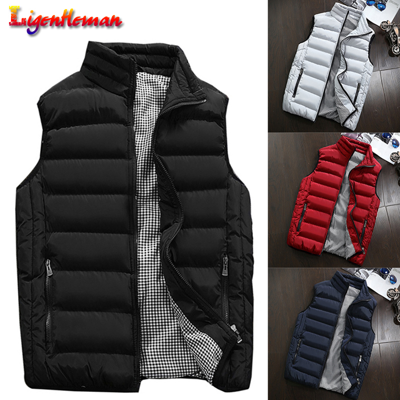 Winter Men 2019 Casual Waistcoat Plus Size 5XL Vest Spring Autumn Men's Vest Mens Coats  Men New Stylish Warm Sleeveless Jacket