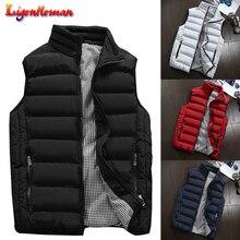 Winter Men 2019 Casual Waistcoat Plus Size 5XL Vest Spring Autumn Mens Vest Mens Coats  Men New Stylish Warm Sleeveless Jacket