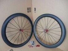 2017 700C 50mm   Road bike aero matt UD full carbon fibre bicycle wheelset with Powerway R36 carbon hubs Free ship