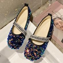 2019 New Ladies Bling Loafers Women Shoes Slip On Flat Shoes Women luxury ballerine mocassin sapato feminino zapatillas mujer цена в Москве и Питере
