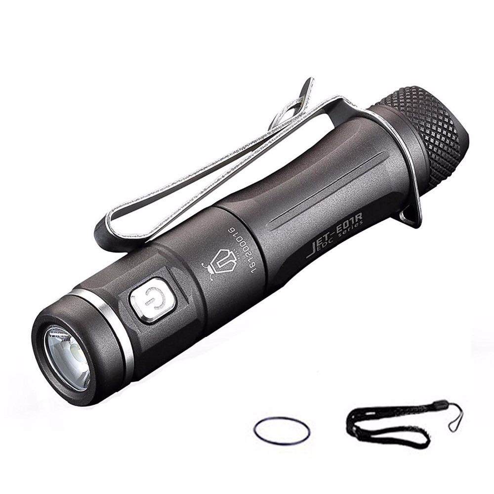 JETBeam E01R USB Rechargeable CREE XP-G2 LED Flashlight 138 Lumens Outdoor Torch