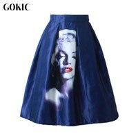 Owlprincess 2016 Women S High Waist A Line Tutu Skirt Monroe Print Pleated Skirts 50 S