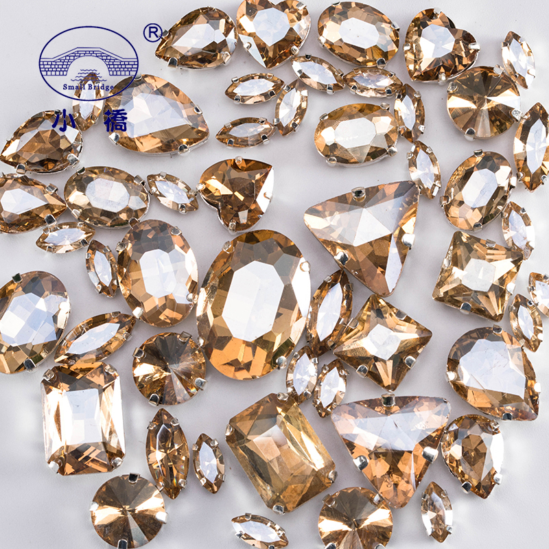 Mixed Shape Crystal Rhinestones For Sewing Diy Colorful Craft Gems Loose Glass Flatback Rhinestones With Claw 50pcs Pack S054 Rhinestones Aliexpress