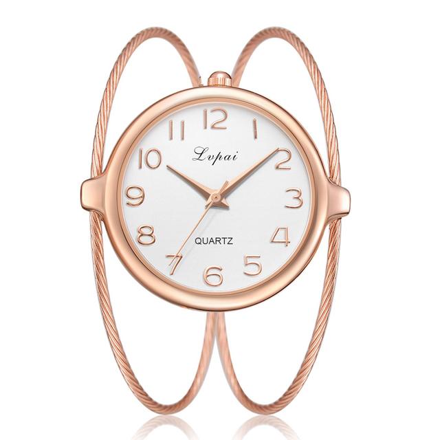 Women Fashion Luxury Watch Bracelet Quartz Dress Watches Rose Gold Small And Exquisite Lvpai Brand Ladies Casual Clock LP353