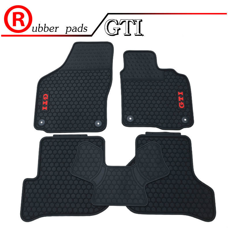 """GOLF And GTI"" Logo Custome Rubber Car Floor Mats For RHD"