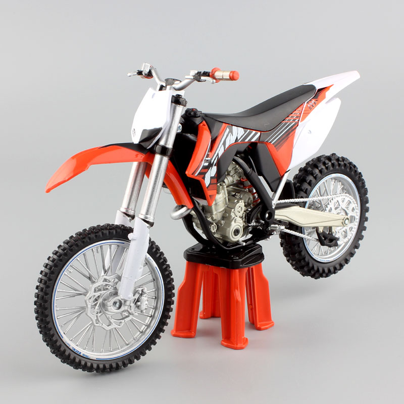 1/12 Scale Automaxx Children KTM 350 SXF Motocross Motorcycle Model Rider SX-F Dirt Bike Diecasts & Toy Vehicles For Collection