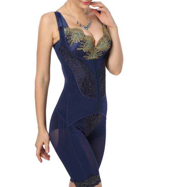 34db2c783 2019 Hot Blue Color Full Body Shaper Corset Sexy Underwear Waist Slim  Bodysuit For Women Slimming