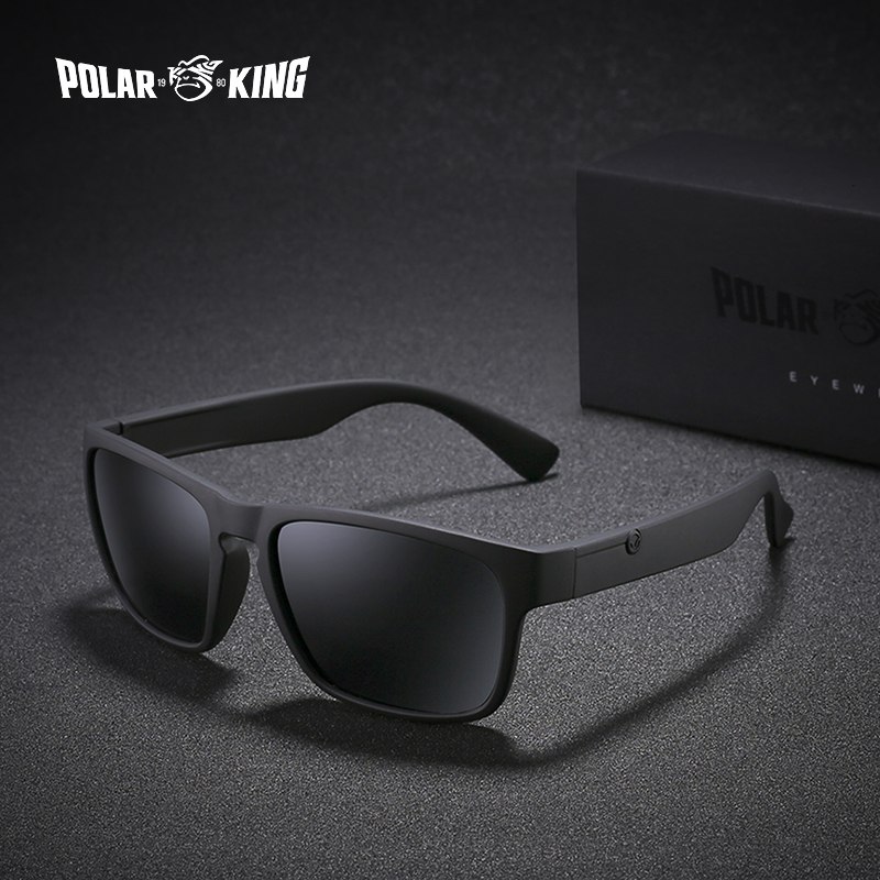 POLARKING Brand Polarized Sunglasses For Men Plastic Oculos de sol Men's Fashion Square Driving Eyewear Travel Sun Glasses fashion rectangle frame gun metal leg outdoor driving sunglasses for men