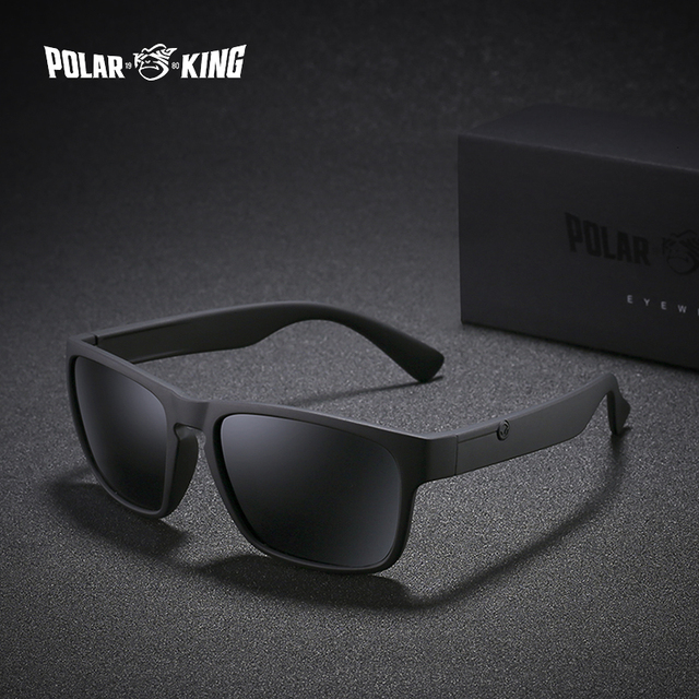 36fbefb3c5 POLARKING Brand Polarized Sunglasses For Men Plastic Oculos de sol Men s  Fashion Square Driving Eyewear Travel