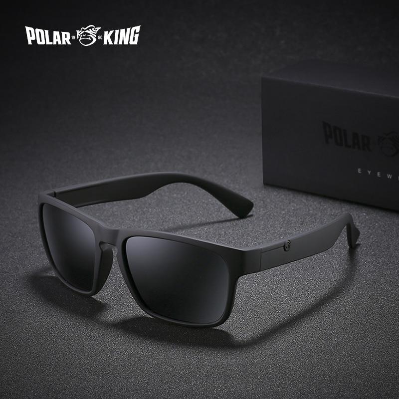 POLARKING di Marca Occhiali Da Sole Polarizzati Per Gli Uomini di Plastica Oculos de sol uomo Fashion Square di Guida Occhiali Viaggi Occhiali Da Sole