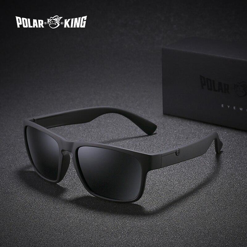 POLARKING marca gafas de sol polarizadas para hombres de plástico gafas de sol de moda de los hombres plaza de conducción gafas de sol