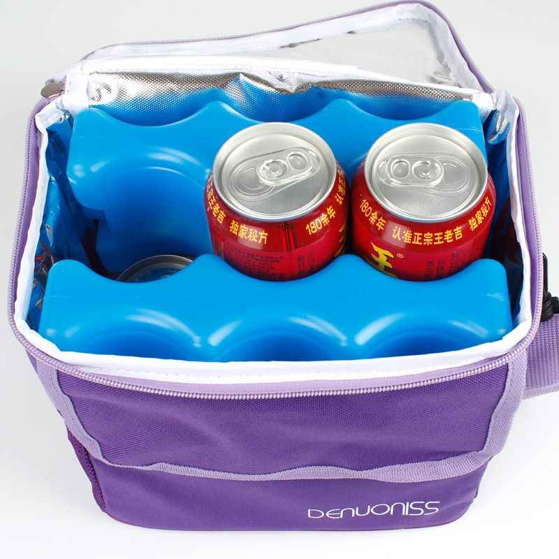 600ml Reusable Ice Brick Ice Block Baby food storage box Ice Pack Cooler Milk Storage For Cooler Bag crisper Boxes
