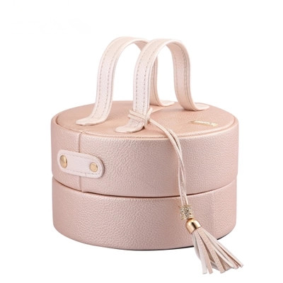 ФОТО Factory Direct Sale Cosmetic Cases Box Beautiful Makeup Bag Professional High Quality Women Leather Jewerly Cosmetics Box