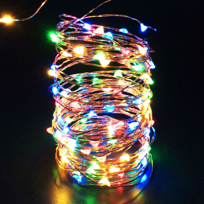 Battery powered led outdoor christmas lights 1m 10m led string battery powered led outdoor christmas lights 1m 10m led string light usb battery powered cooper wire fairy aloadofball Gallery