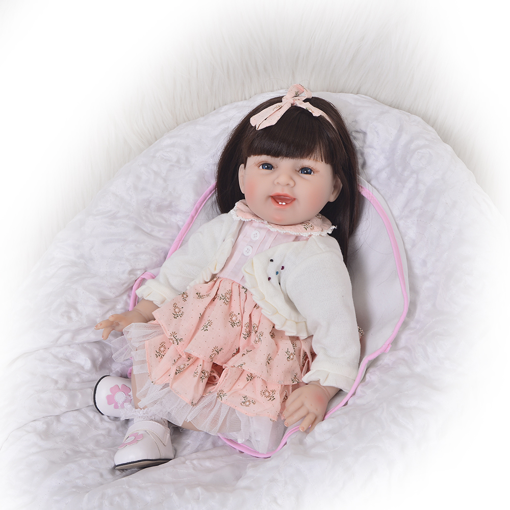 22 Inch Real Looking Reborn Dolls Lifelike Soft Silicone 55 cm Newborn Babies Doll Toy For Kids Birthday Xmas Gift 22 inch 55 cm silicone baby reborn dolls lifelike doll newborn toy girl gift for children birthday xmas