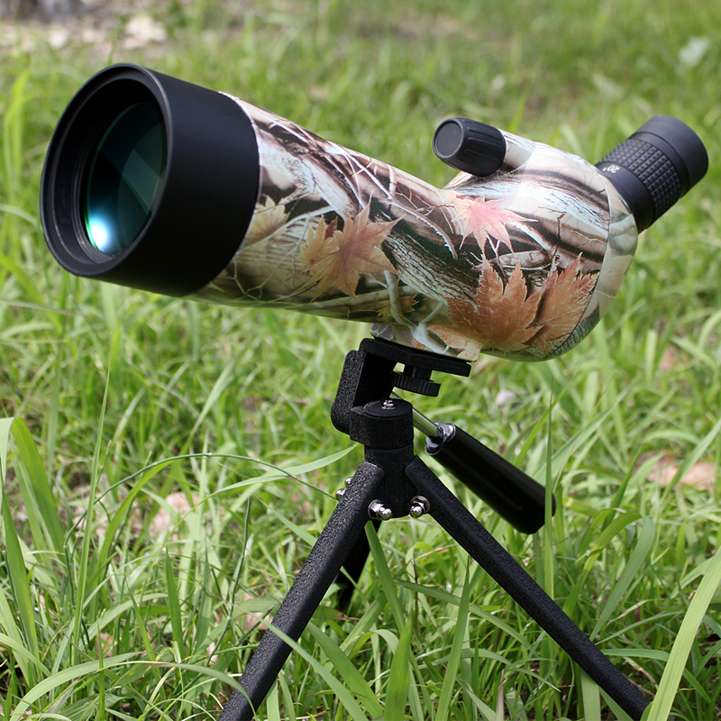 Spotting scope Waterproof telescope Angled 20-60x60 Zoom Spotting Scopes with table tripod camouflage color fast shipping 10x zoom telescope lens with tripod