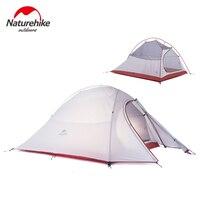Naturehike New 2 Người Lều 20D Silicone Vải Lều Double-layer Cắm Trại Lều Trọng Lượng Nhẹ Lều Ngoài Trời Thể Thao Mùa Đông