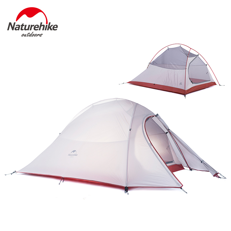 Naturehike New 2 Person Tent 20D Silicone Fabric Tent Double-layer Camping Tent Lightweight Tent Outdoor Sports Winter naturehike factory store 2 person tent 20d silicone fabric double layer camping tent lightweight only 1 24kg dhl free shipping