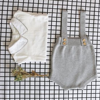 Baby Knitting Rompers Cute Overalls Newborn Baby Girls Boys Clothes Infantil Baby Girl Boy Sleeveless Romper Jumpsuit 0-24m 1