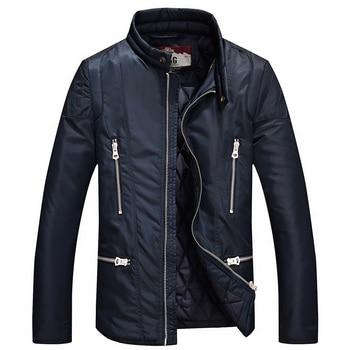 IFRICH 2017 New Brand Men's Casual Warm Parkas Solid Fleece Winter Streetwear Jacket Men Hooded Thick  Padded Overcoat Man