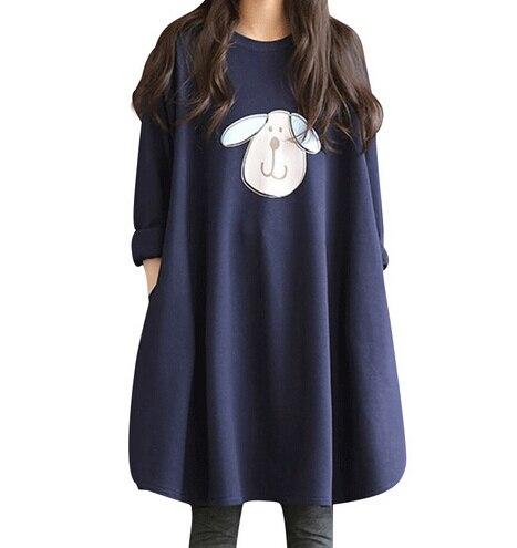 New Autumn Winter Pregnant Women Fashion Shirts Loose Dress Maternity Cotton Long Sleeve Soft Fat Blouse Vestidos Lady Clothes