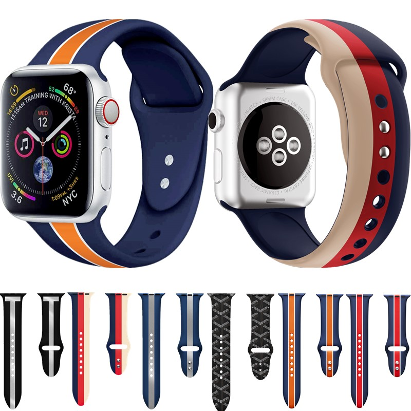 Sports Silicone Strap For Apple Watch Band 4/3/2/1 Colorful Replacement Wriststrap Bracelet Accessories For iWatch 44/42/40/38mm
