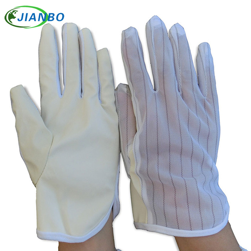 Free Shipping 10 Pairs Anti Static Safe Electronic Factory PU Coated Nylon Protective Operation Labor Protection Working Gloves