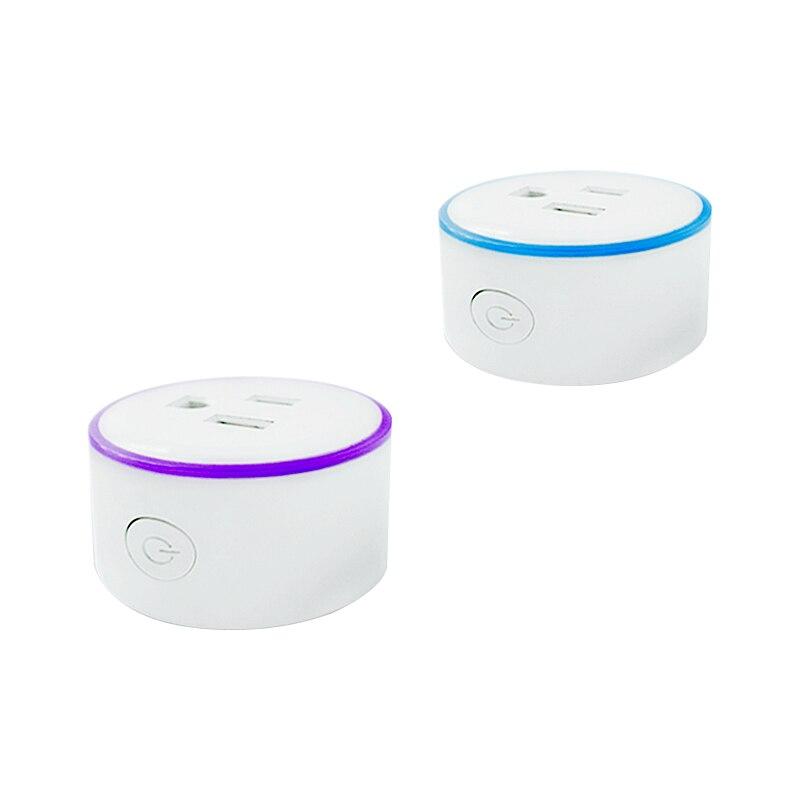 Flash LED Wifi Sortie À Puce Pour Amazon Alexa Google Maison IFTTT 15A Prise Sans Fil Prise de Contrôle À Distance Les Appareils Sans Hub nécessaire
