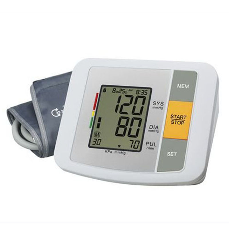 U80B LCD Digital Display Fully Automatic arm Wrist Monitor cuff BPM Measuring Blood Pressure blood-pressure meter Free shipping free shipping fully automatic arm digitl blood pressure monitor sphygmomanometer color lcd with ce fda