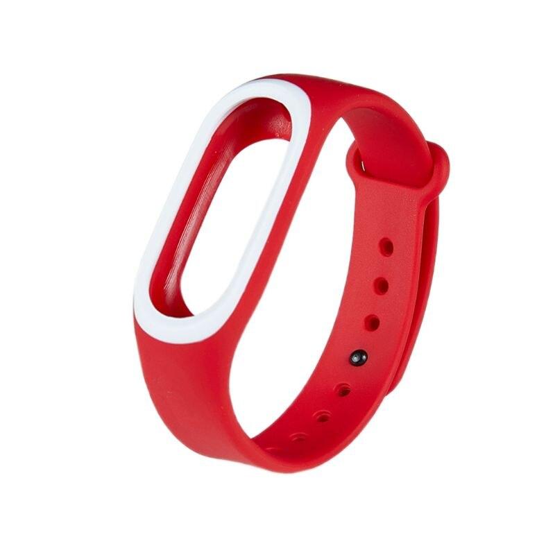 Силиконовые Красочные Браслет спорта ремешок для Xiaomi Эй плюс Smartband - Цвет: R