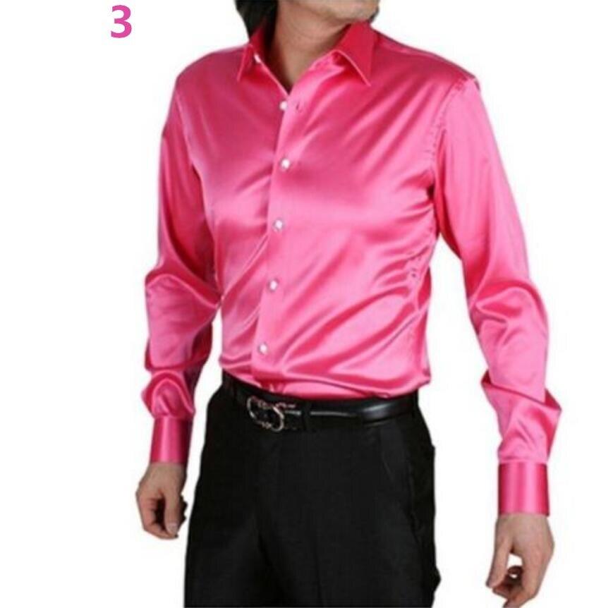 2016 hombres s camisa de vestir casual personalizado Trajes seda ...