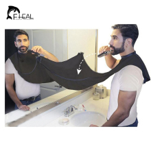 FHEAL Design Beard Care Shave Apron Bib Catcher Trimmer Facial Hair Cape Sink Black Shaving Aprons For Man Indoor Bathroom Clean