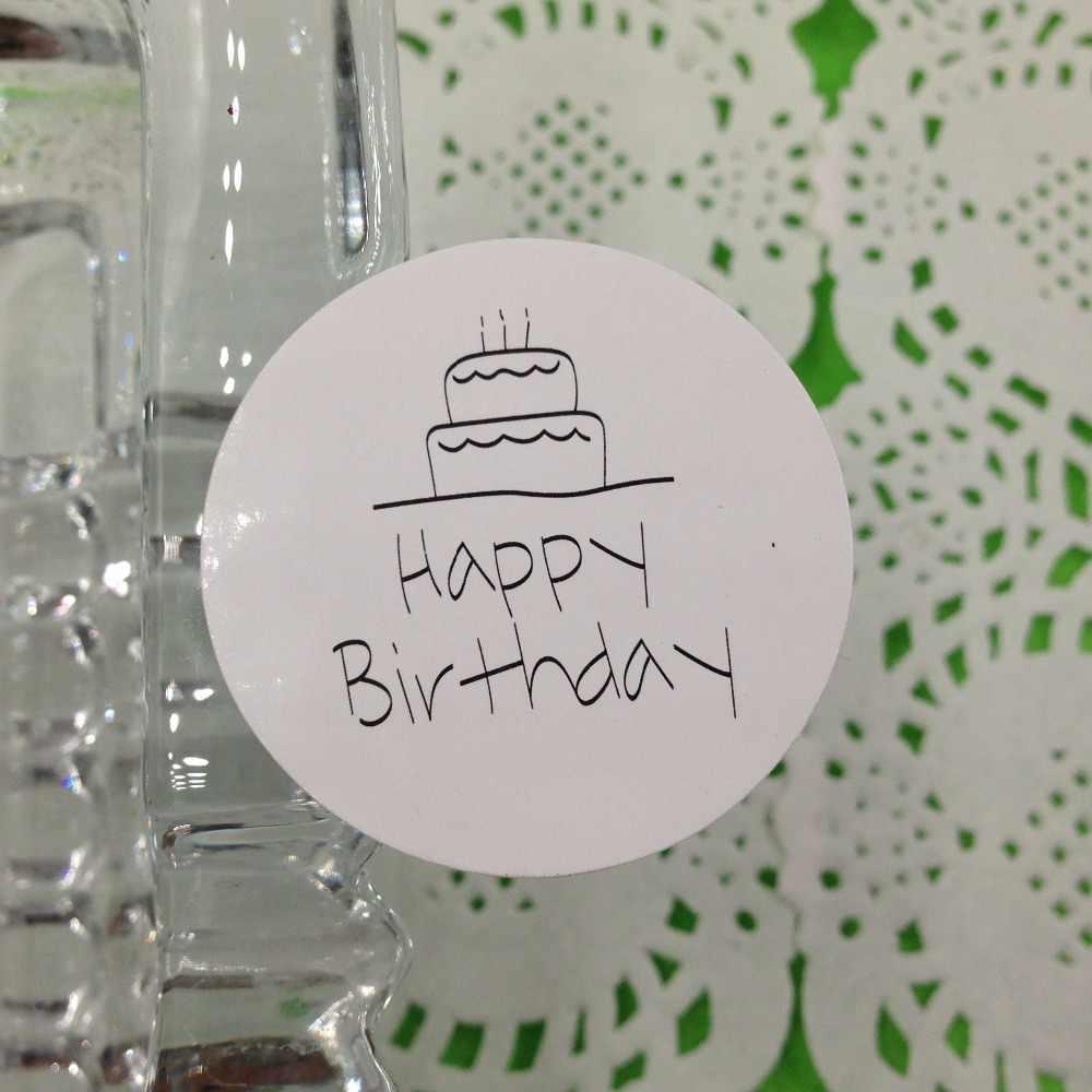 """100 шт./партия 3,5x3,5 см наклейки, напечатанные выше """"с днем рождения"""" наклейки """"сделай сам"""" для подарка/коробки/подарка/конверт"""