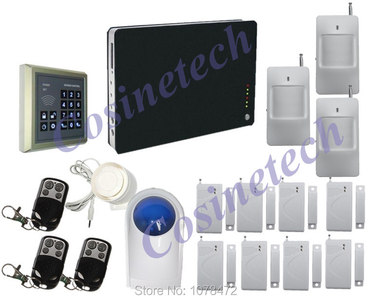 Smart Multi-language:English/Chinese/Russian/Spanish/German/Frenchh for option.SMS,voice message, Auto-dial GSM alarm system