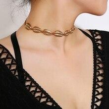 Sea Shell Necklace Choker Jewelry Bohemian Beach Tassel Necklace Shell Gold Chain For Women Collar Chocker 2018 цена