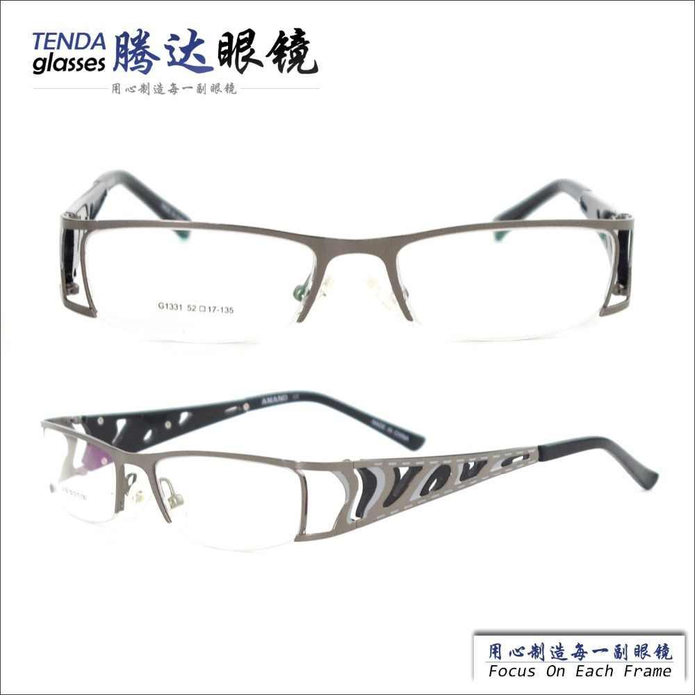 New Fashion Designer Kacamata Pria Frame Kacamata Untuk Lensa Resep Steel Dikepang Selang Kit Steel Frame Bicyclesteel Pail Aliexpress