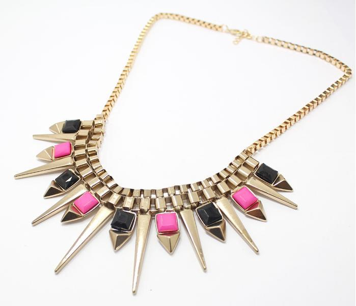 New Fashion Bohemian Exaggerated Statement Choker statement Necklaces For Women Wholesale Jewellery ABC
