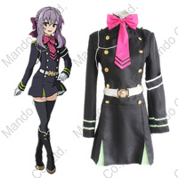 Anime Seraph Of The End Hiiragi Shinoa Cosplay Costumes Girls Military Uniform Dress Women Halloween Cosplay Party Outfit
