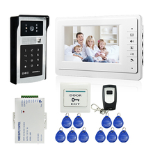 "Wired 7"" Video Door Phone Doorbell Video Intercom Entry System + IR RFID Code Keypad Camera + Remote FREE SHIPPING"