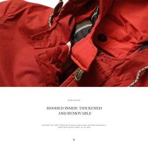 Image 2 - Мужская теплая длинная куртка SIMWOOD, модная толстая повседневная парка, брендовая одежда высокого качества, новая модель MF950