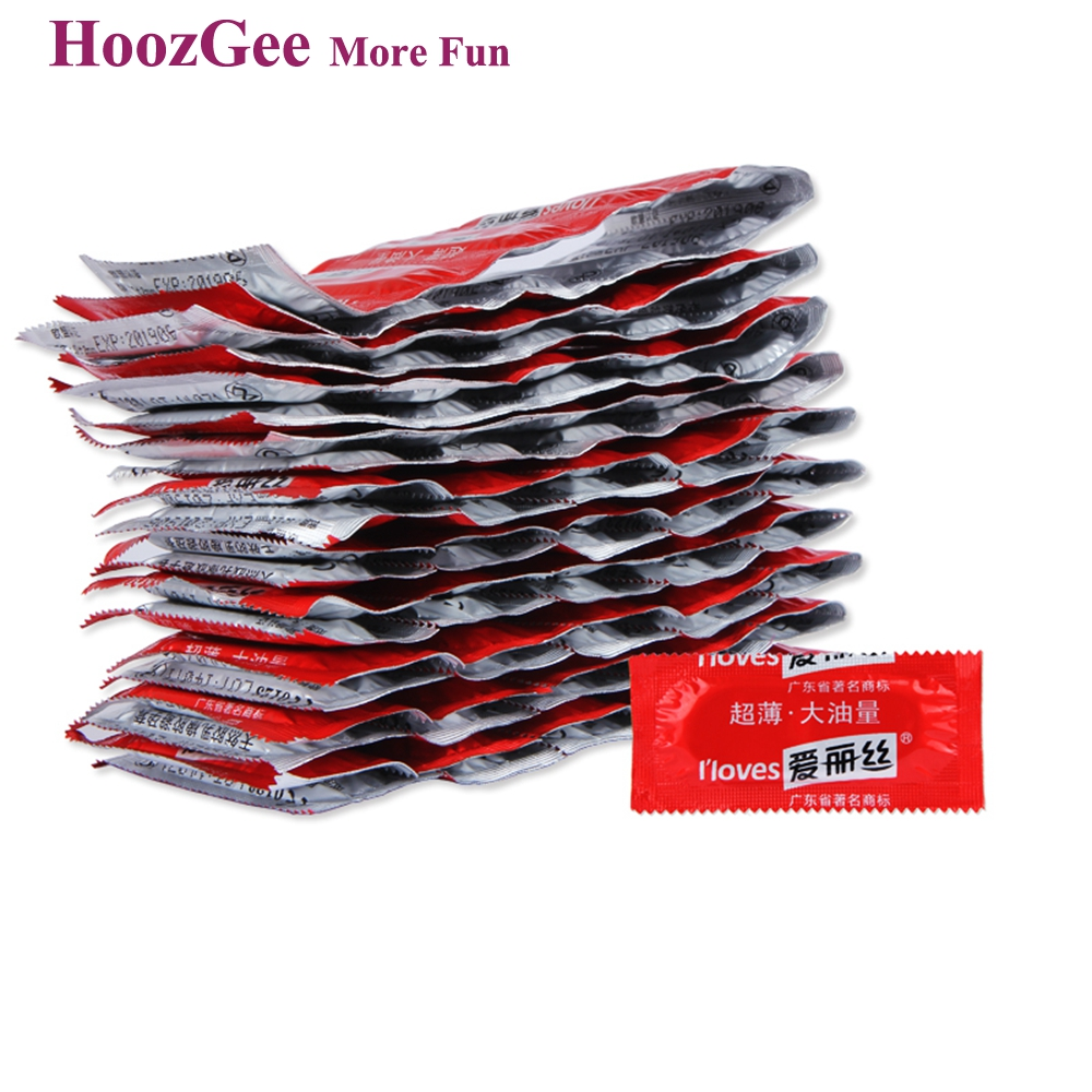 HoozGee I Loves font b Condoms b font Fruit Flavor Extra Safe Super lubrication Latex font