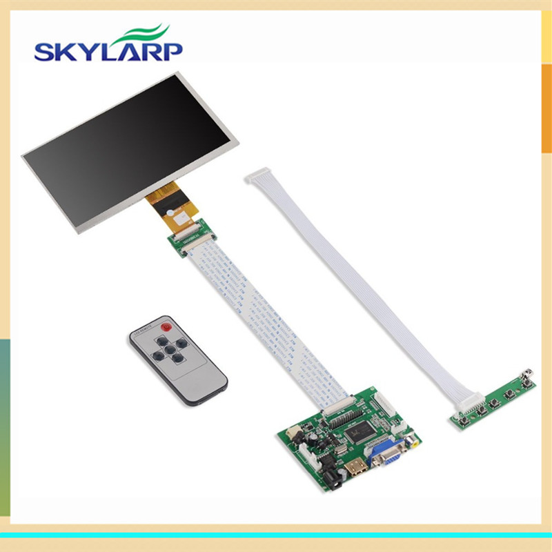 7 Inch 40pins 1024(RGB)*600 TFT LCD Screen EJ070NA-01J Display With Remote Driver Control Board 2AV HDMI VGA for Raspberry Pi lcd 32e9bd motherboard 40 00ms68 mae2xg with 320ap09 screen
